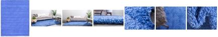 Bridgeport Home Exact Shag Exs1 Periwinkle Blue 10' x 13' Area Rug