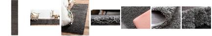 "Bridgeport Home Exact Shag Exs1 Graphite Gray 2' 6"" x 13' Runner Area Rug"