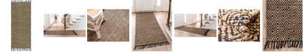 "Bridgeport Home Braided Tones Brt3 Natural/Black 2' 6"" x 6' Runner Area Rug"