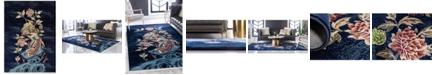 Bridgeport Home Sahil Sah9 Navy Blue 9' x 12' Area Rug