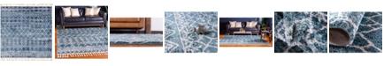 """Bridgeport Home Levia Lev1 Dark Blue 7' 7"""" x 7' 7"""" Square Area Rug"""