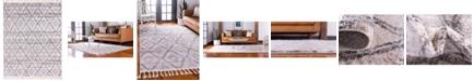 "Bridgeport Home Levia Lev2 Beige/Gray 9' 3"" x 12' Area Rug"