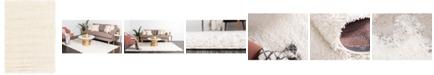 Bridgeport Home Exact Shag Exs1 Snow White 4' x 6' Area Rug