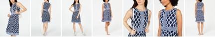 Michael Kors Mixed-Print Dress, in Regular & Petite Sizes