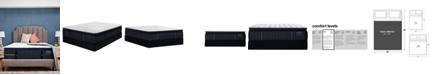 """Stearns & Foster Estate Hurston 14.5"""" Luxury Firm Euro Pillow Top Mattress Set- Queen Split"""