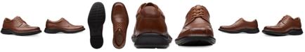 Clarks Men's Kempton Run Black Leather Dress Casual Lace-Up Shoes