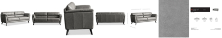 "Furniture Lucais 83"" Leather Sofa, Created for Macy's"