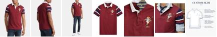 Polo Ralph Lauren Men's Custom Slim Fit Rugby Bear Mesh Polo Shirt