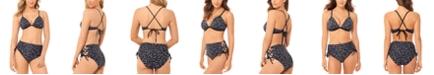 Salt + Cove Juniors' Confetti Hearts Printed Push-Up Bikini Top & Confetti Hearts Printed High-Waist Bikini Bottoms, Created for Macy's