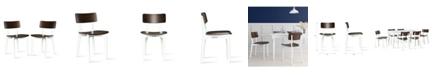 Novogratz Collection NovoGratz VA rick Two-Tone Dining Chair, 2-Pack
