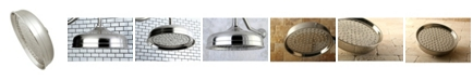 Kingston Brass Victorian 10-Inch OD Raindrop with 127 Water Channels in Brushed Nickel