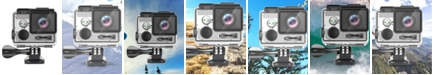 LINSAY New True 4K Action Camera Sport Outdoor Activities UHD Video and Photos Wi-Fi