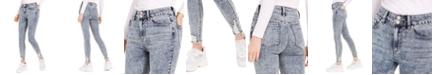 Indigo Rein Juniors' Ripped Acid-Wash Skinny Jeans
