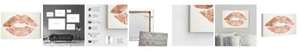 "Oliver Gal Solid Kiss Copper Canvas Art, 15"" x 10"""