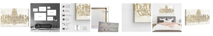 "Oliver Gal Glam Chandelier Canvas Art, 36"" x 24"""