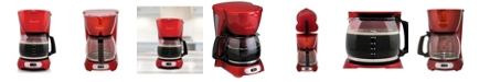Continental Coffee Maker 12-Cup Metallic Red
