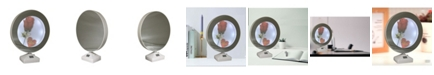 """Creative Motion Round Lighted Mirrored Photo Frame 6"""" and Mirror When Not Lighted - 2 In 1"""