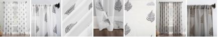 """Lichtenberg No. 918 Fern Embroidered 50"""" x 84"""" Sheer Curtain Panel"""