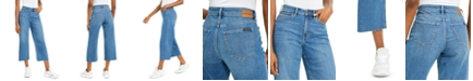 Calvin Klein Jeans Cropped Wide-Leg Jeans