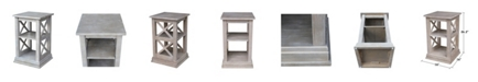 International Concepts Hampton Accent Table with Shelves