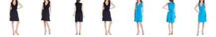 24seven Comfort Apparel Sleeveless V-Neck Empire Waist Cocktail Dress