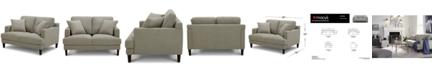 "Furniture Lexah 52"" Fabric Loveseat, Created for Macy's"
