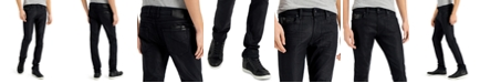 GUESS Men's Slim-Fit Tapered Jeans with Faux-Leather Piecing