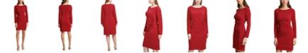 Jessica Howard Plus Size Ruched-Side Sheath Dress