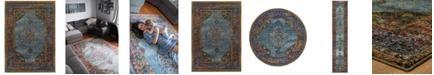 "JHB Design  Macy's Fine Rug Gallery Journey  Ardebil Blue 6'7"" x 9'6"" Area Rug"