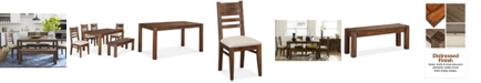 """Furniture Avondale 6-Pc. Dining Room Set, Created for Macy's,  (60"""" Dining Table, 4 Side Chairs & Bench)"""