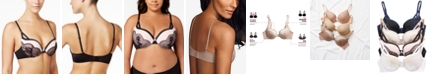 Maidenform Love the Lift Push Up & In Lace Plunge Underwire Bra DM9900