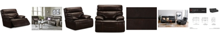 Furniture Barington Leather Power Glider Recliner with Power Headrest