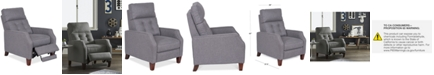 Furniture Elora Fabric Pushback Recliner