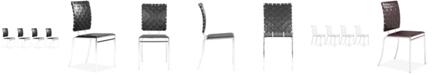 Zuo Criss Cross Dining Chair, Set of 4