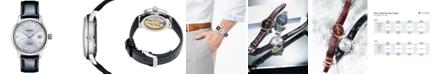 Seiko Men's Automatic Presage Black Leather Strap Watch 40.5mm