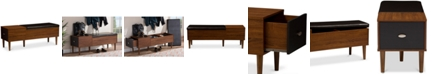Furniture Mogota Storage Bench, Quick Ship