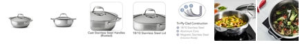 Tramontina Gourmet Tri-Ply Clad 4 Qt Covered Universal Pan