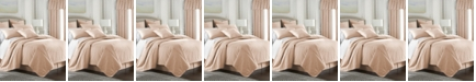 Colcha Linens Cambric Peach Coverlet-Queen