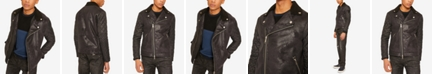 A|X Armani Exchange Armani Exchange Mens Faux-Shearling Quilted Jacket