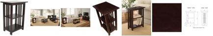 Alaterre Furniture Mission 2 Shelf End Table, Espresso