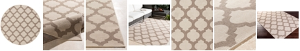 "Surya Alfresco ALF-9586 Cream 5'3"" Round Area Rug, Indoor/Outdoor"