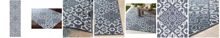 """Surya Alfresco ALF-9676 Charcoal 2'3"""" x 7'9"""" Runner Area Rug, Indoor/Outdoor"""