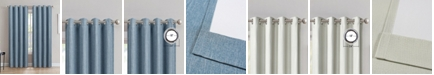 "Silk Home Living Sun+Block Thermal Weave Blackout Grommet Single Curtain 52""x84"""