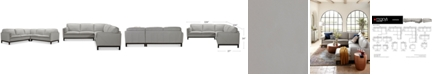 """Furniture Virton 3-Pc. Leather """"L"""" Sectional Sofa, Created for Macy's"""