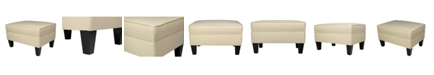 MJL Furniture Designs Brooklyn Square Upholstered Storage Ottoman