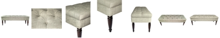 MJL Furniture Designs Claudia Diamond Tufted Entryway Bench