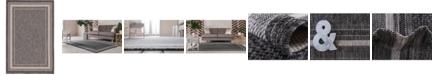 Bridgeport Home Pashio Pas5 Black 6' x 9' Area Rug