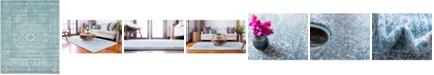 Bridgeport Home Wisdom Wis3 Light Blue 8' x 10' Area Rug