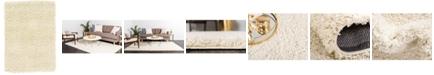 "Bridgeport Home Exact Shag Exs1 Pure Ivory 2' 2"" x 3' Area Rug"