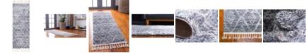 "Bridgeport Home Levia Lev2 Gray 2' 4"" x 6' Runner Area Rug"